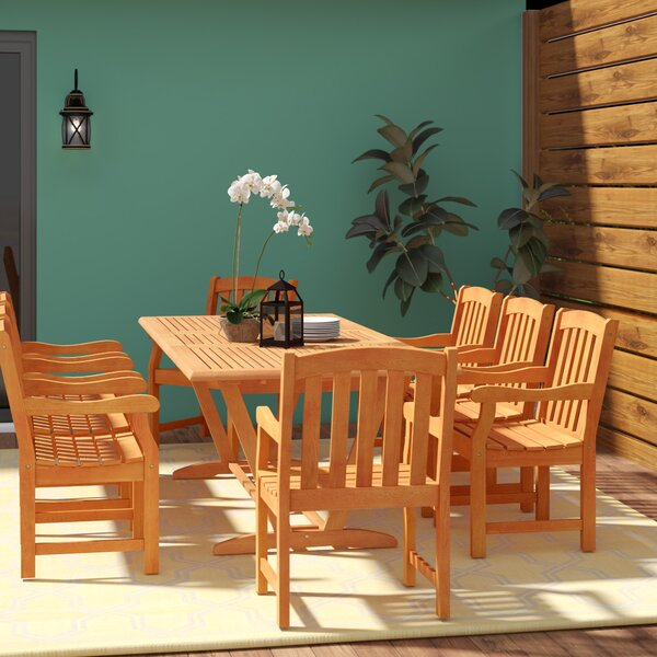 Amabel Patio 9 Piece Dining Set by Beachcrest Home