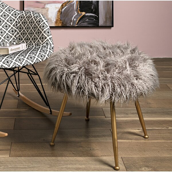 Rotella Fuzzy Accent Stool by Mercer41
