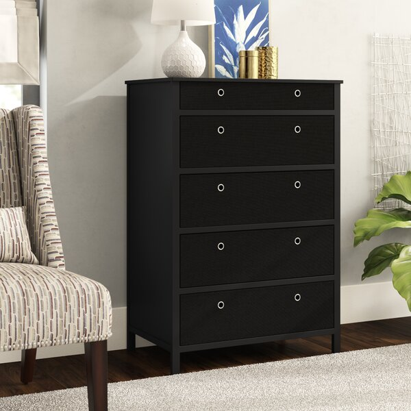 Pinder Fold-able 5 Drawers Tall Chest by Andover Mills