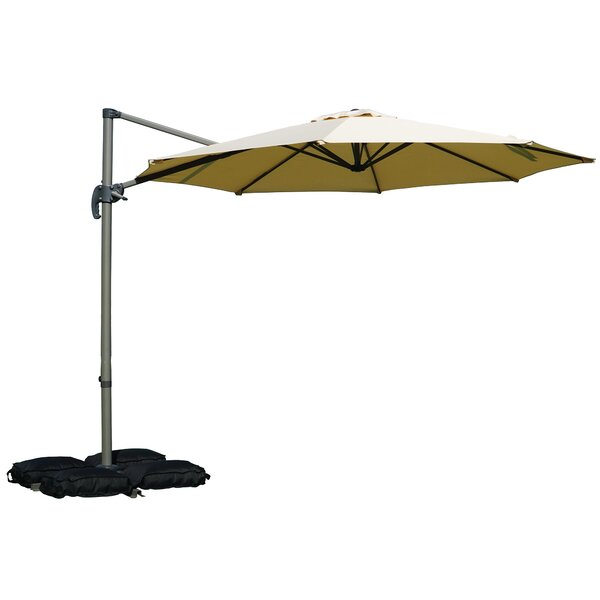 Tottenham Patio Hanging Offset 10' Cantilever Umbrella By Charlton Home by Charlton Home Best #1