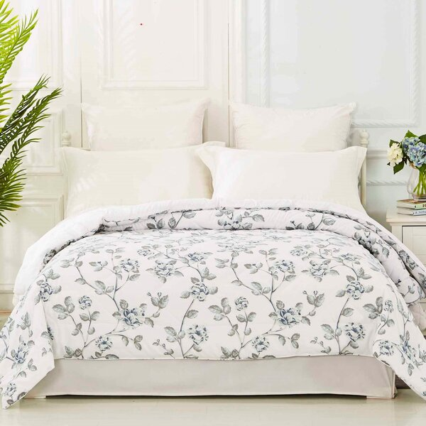 Manassas Floral Printed Quilted Blanket by Winston Porter