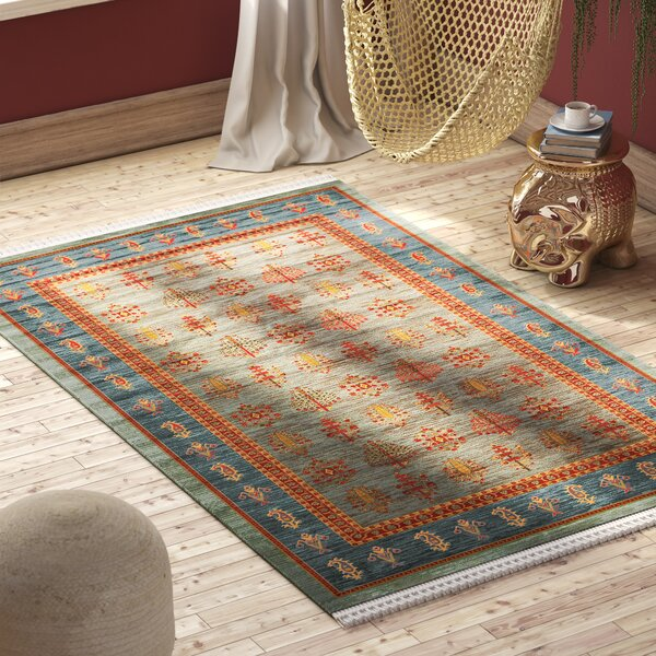 Foret Noire Light Blue Area Rug by World Menagerie