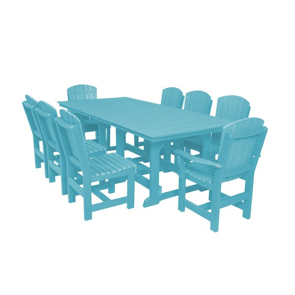 Patricia 9 Piece Dining Set By Rosecliff Heights