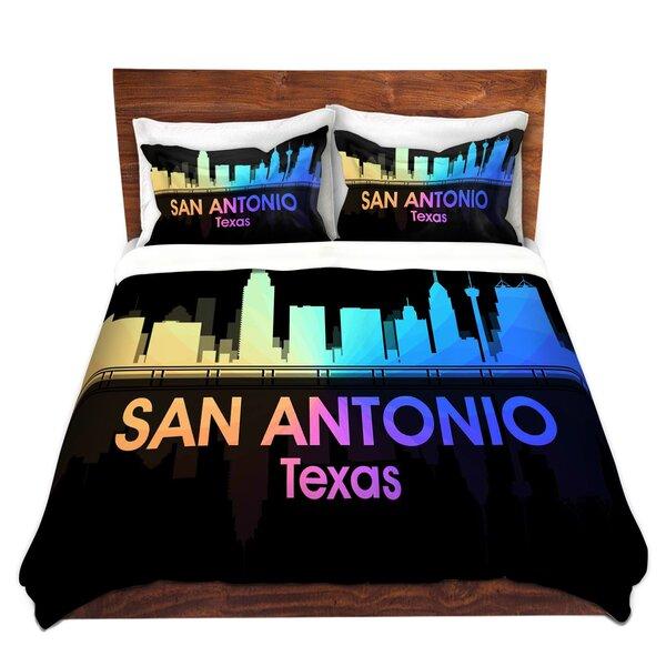 City V San Antonio Texas Duvet Cover Set