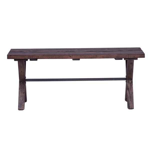 Gillan Wood Bench By Gracie Oaks New Design