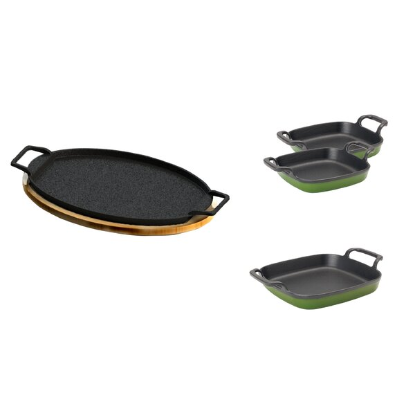 4 Piece Non-Stick Fajita Serving Set by Bayou Clas