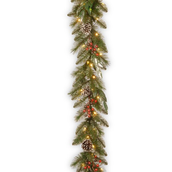 Frosted Pine Berry Garland by The Holiday Aisle