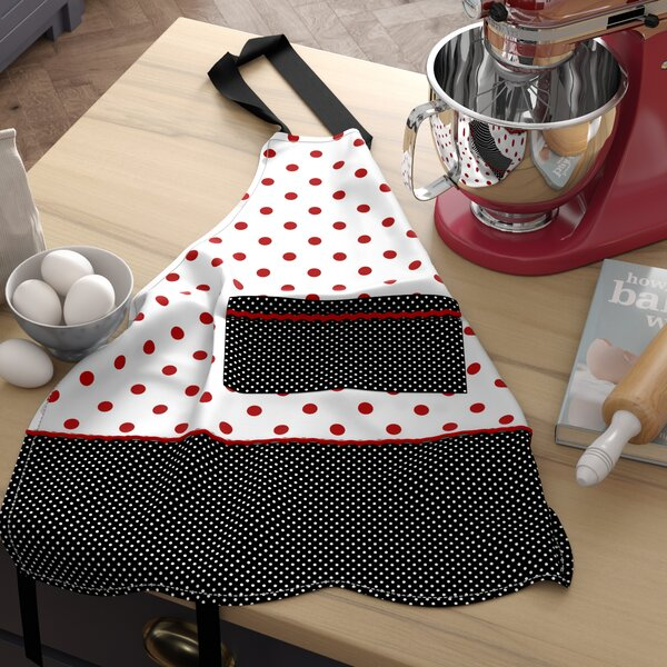 Polka Dot Ruffle Apron by Latitude Run