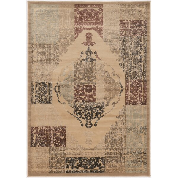 Pasho Beige Area Rug by Bungalow Rose