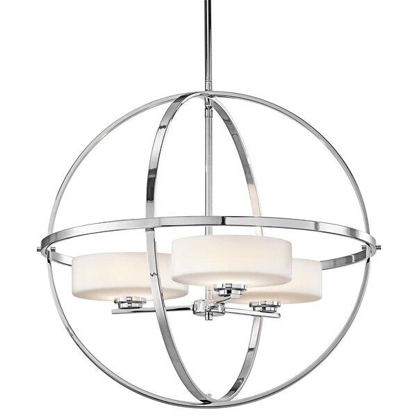 Scoles 3-Light Shaded Globe Chandelier By Brayden Studio
