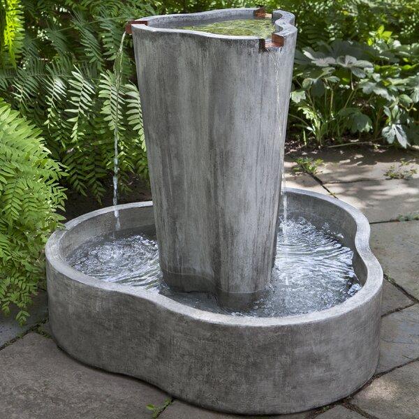 Concrete LC2 Garden Terrace Fountain by Campania International