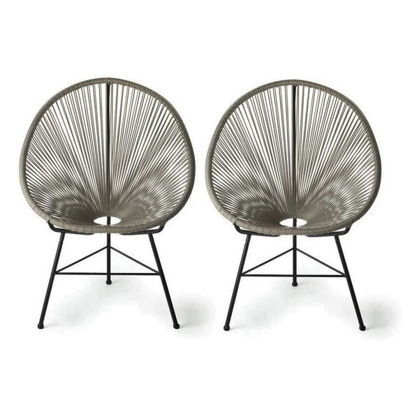 Aymond Papasan Chair (Set of 2) by Ivy Bronx