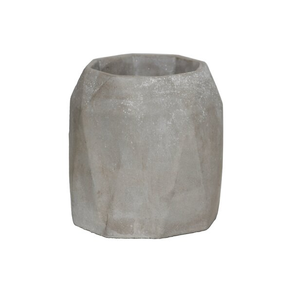 Sherika Cement Tall Round Design Body Pot Planter by Williston Forge