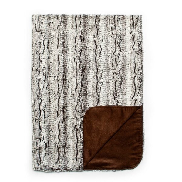 Crushed Gator Reversible Throw by Silverado Home