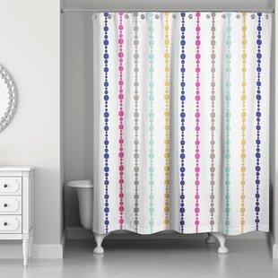 Best Price Ricker Bead Pattern Shower Curtain ByBrayden Studio