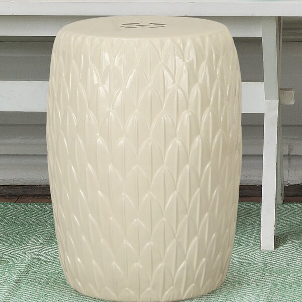 Lotus Petals Ceramic Garden Stool by Adeco Trading
