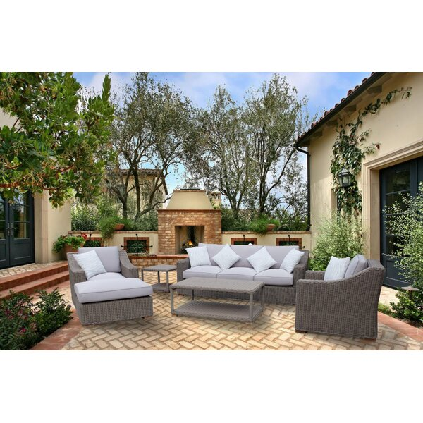 Brokaw 6 Piece Sofa Set with Cushions by Highland Dunes