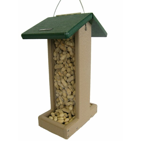 Recycled Whole Peanut Hopper Bird Feeder by Birds