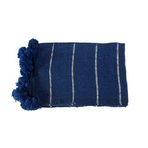 Moroccan Pom Pom Cotton Blanket
