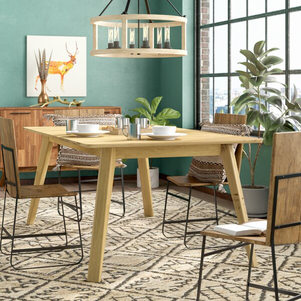 Caterina Solid Wood Dining Table by Union Rustic