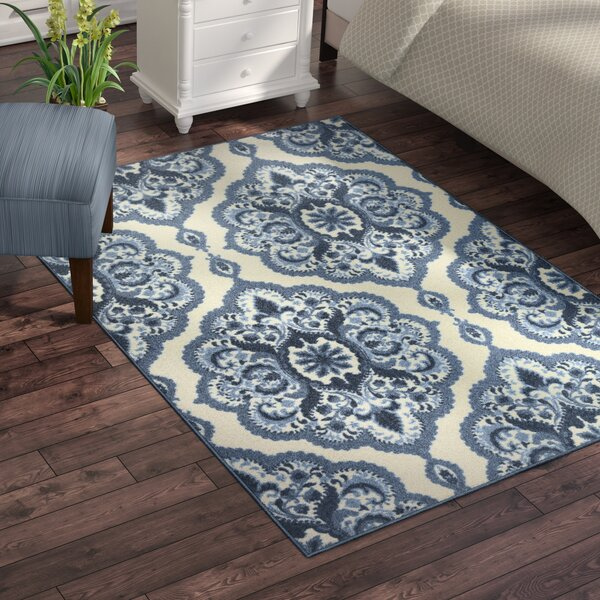 Hertel Blue Area Rug by Charlton Home