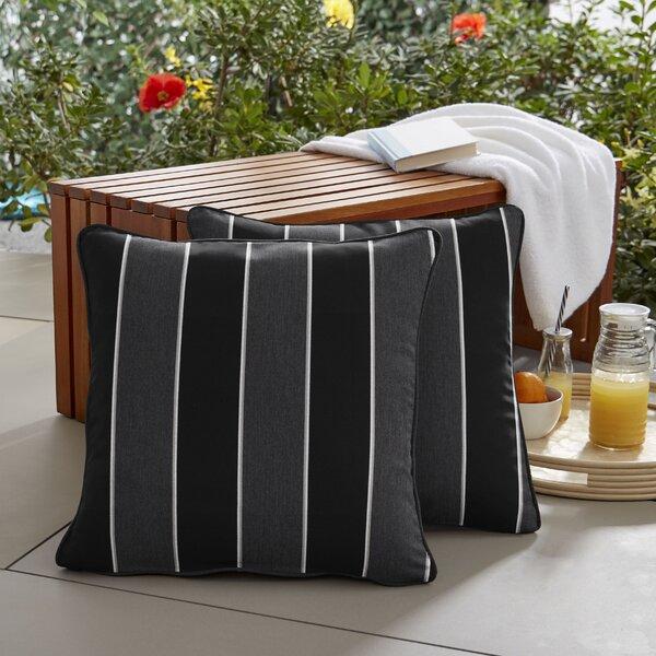 Cox Sunbrella Peyton Granite Outdoor Throw Pillow (Set of 2)