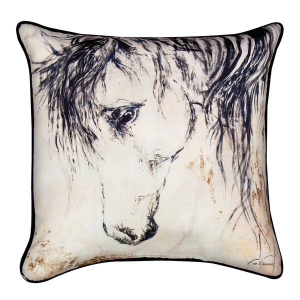 Wild Mane Ii Throw Pillow by Manual Woodworkers & Weavers