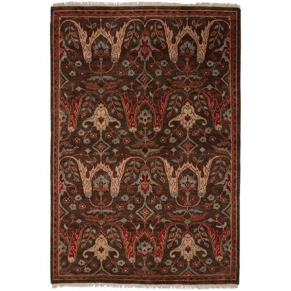 Tucson Hand-Woven Brown Area Rug by Shalom Brothers