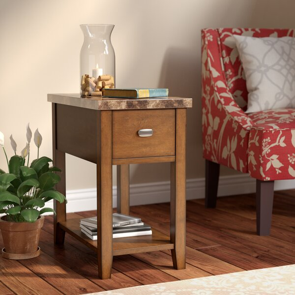 Athens End Table With Storage By Charlton Home