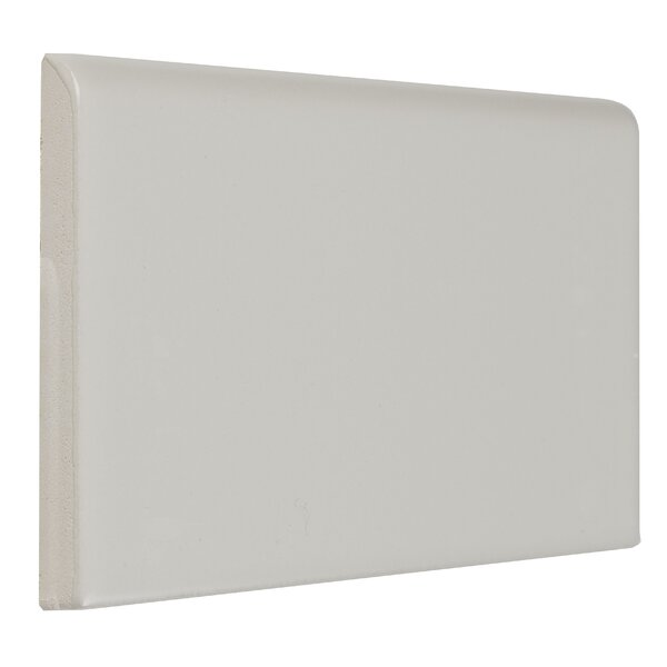 Guilford 6 x 3 Ceramic Bullnose Tile Trim in Matte Biscuit by Itona Tile