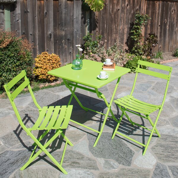 Sabina 3 Piece Patio Bistro Set by Ivy Bronx