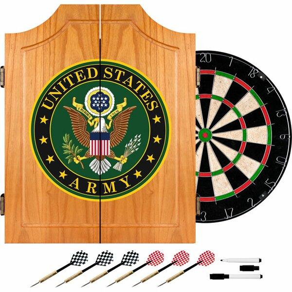 U.S. Army Symbol Wood Dart Cabinet Set by Trademark Global