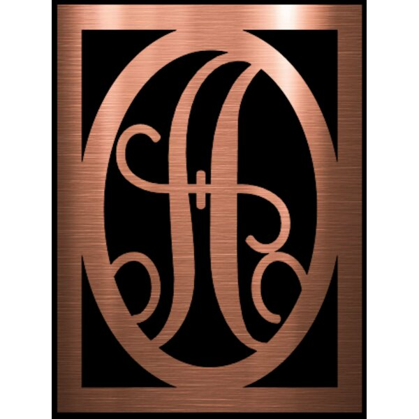 Rectangle Monogram with Oval Wall Décor by Fleur De Lis Living