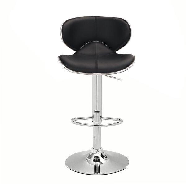 Hansell Adjustable Height Swivel Bar Stool (Set of 2) by Ebern Designs