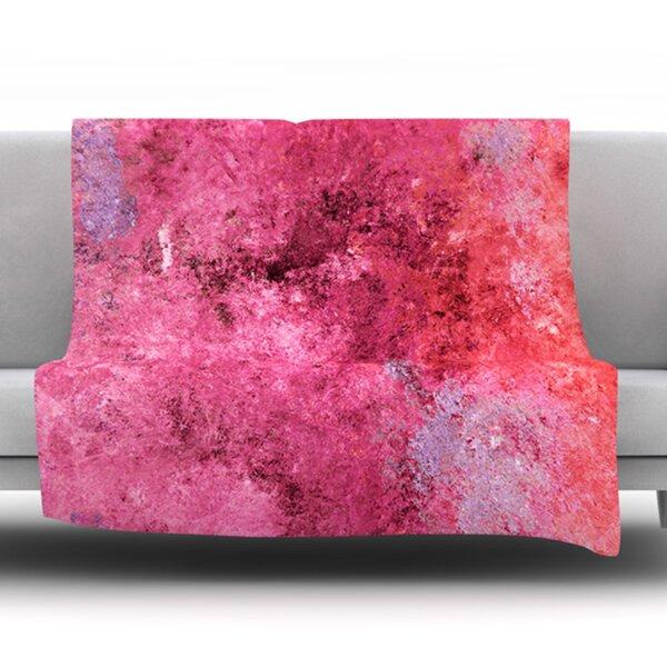 Cotton Candy by CarolLynn Tice Fleece Throw Blanket by East Urban Home