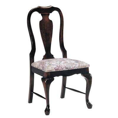 Dining Chair AC Furniture Upholstery Color: Partner Black, Frame Color: English Oak