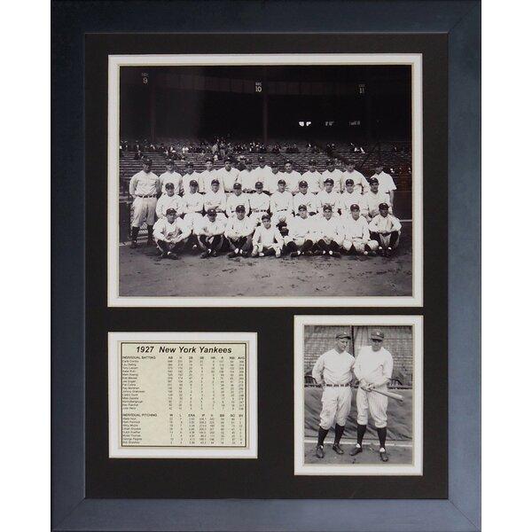 1927 New York Yankees Framed Memorabilia by Legends Never Die