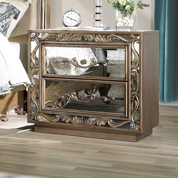 Boyden 2 Drawer Nightstand by A&J Homes Studio
