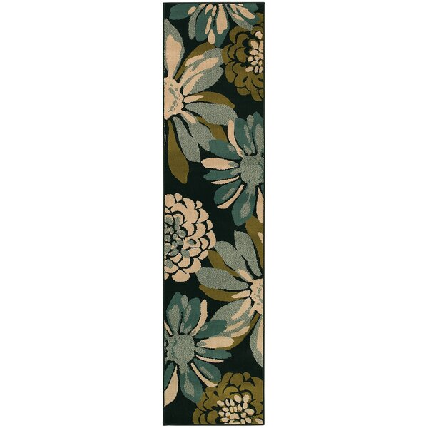 Bienville Teal/Ivory Area Rug by Andover Mills