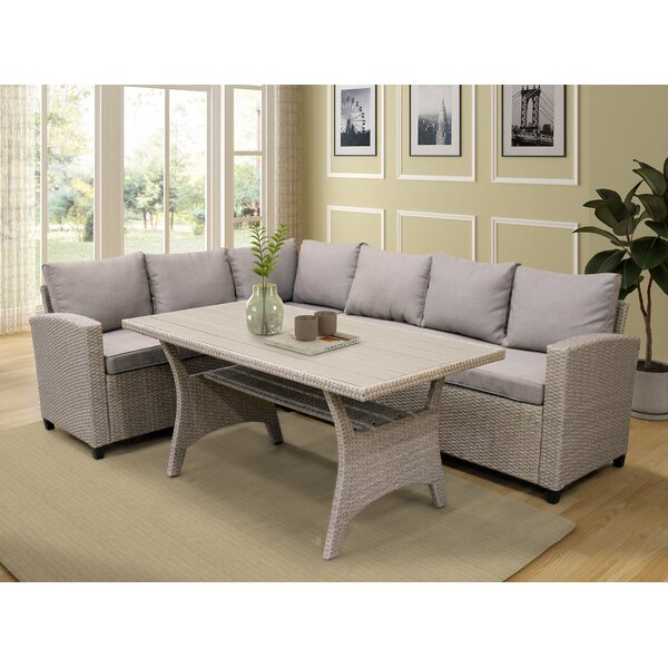 Aryiana 3 Piece Sectional Seating Group with Cushions