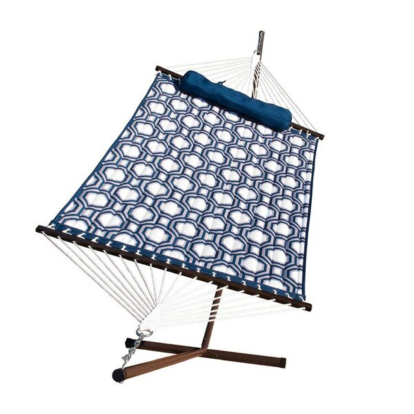 Stinson Quilted Hammock with Stand by Breakwater Bay