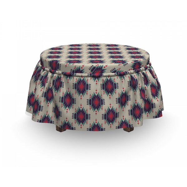 Peruvian Mexican Traditional Ottoman Slipcover (Set Of 2) By East Urban Home