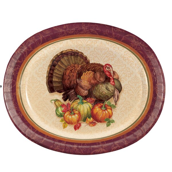 Arya Turkey Paper Dinner Plate (Set Of 24) By The Holiday Aisle