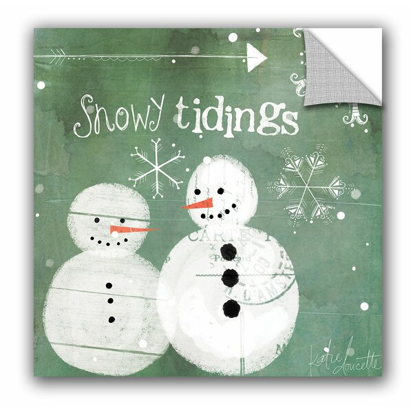 Snowy Tidings Wall Mural by The Holiday Aisle
