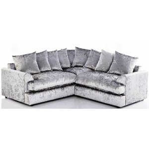 Calvin Crushed Velvet 4 Seater Corner Sofa