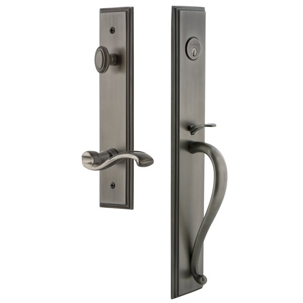 Carré D Grip Single Cylinder Handleset with Portofino Interior Lever by Grandeur