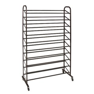 Rolling 10-Tier 50 Pair Shoe Rack By Richards Homewares