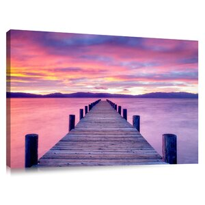 'Sunrise at Lake Tahoe Pier California' by Dennis Frates Photographic Print on Canvas by Colossal Images
