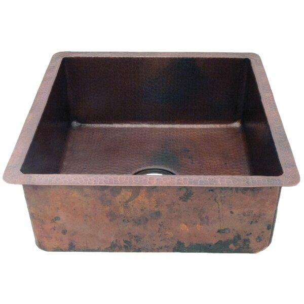 Potter Hammered 18 L x 18 W Dual Mount Bar Sink