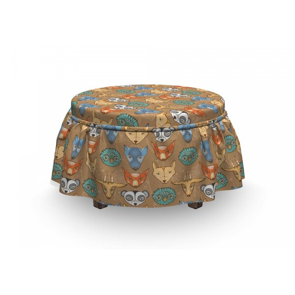 Forest Fauna Ottoman Slipcover (Set Of 2) By East Urban Home